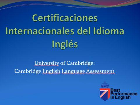 Certificaciones Internacionles Del Idioma Ingles