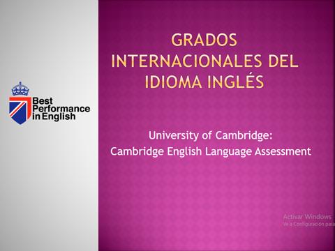 Grados Internacionales Del Idioma Ingles
